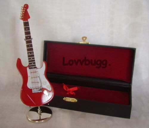 Wood Red Electric Guitar Miniature Instrument for 18 inch Doll American Girl