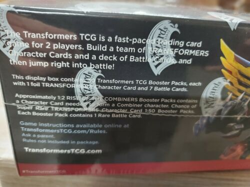 Card game Transformers Rise of the Combiners Booster box 30 sealed packs