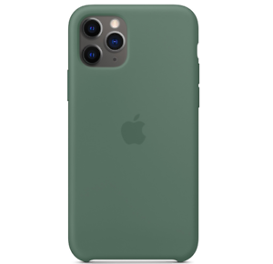 iPhone-11-Pro-5-8-Apple-Echt-Original-Silikon-Huelle-Case-Piniengruen