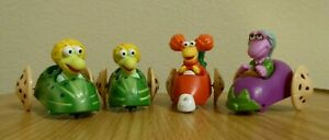 Lot-of-4-vintage-Fraggle-Rock-Vegetable-Cars-Happy-Meal-Toys-McDonald-039-s