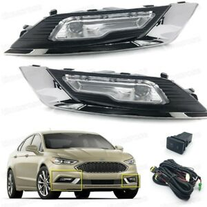 New Fog Lights Driving Lamps w//Bulb+Swithch Left+Right For 2017-2018 Ford Fusion