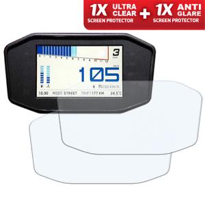 1 x Ultra-Clear /& 1 x Anti-Glare KTM DUKE 690 790 Dashboard Screen Protector