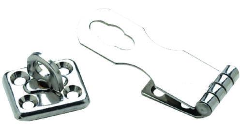 "BOAT MARINE Stainless Steel Swivel Eye Safety Hasp 1/"" x 2-3//4/"" Fastener #8"
