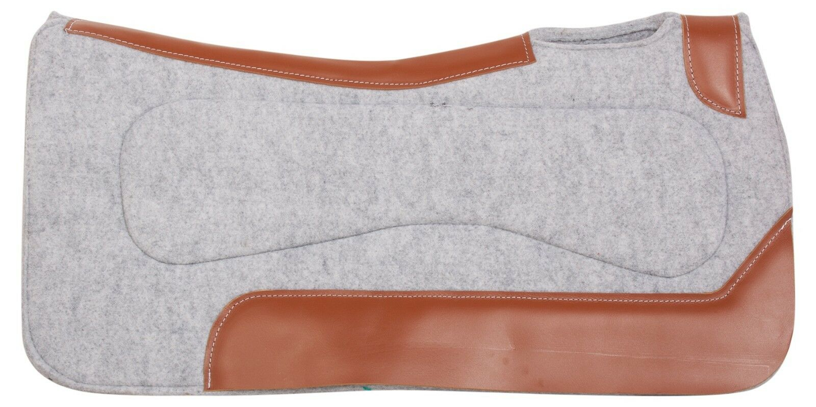 GREY CORRECTIVE WOOL FELT THERAPEUTIC  PLEASURE TRAIL WESTERN HORSE SADDLE PAD  cheap and high quality