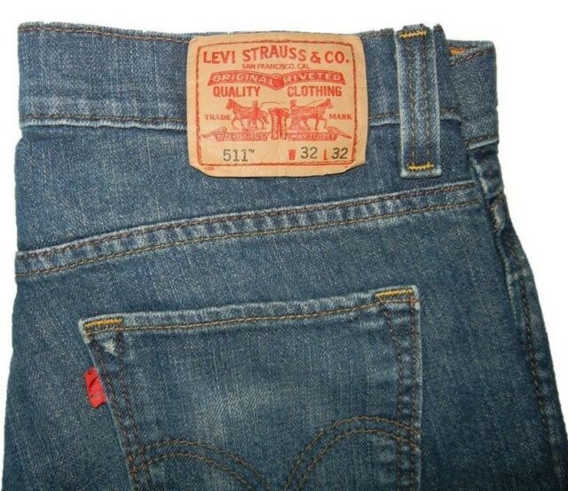 860c4bb9b84 Levis 511 Slim SKINNY 32 W X 32 L Medium Wash for sale online   eBay