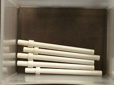 LEGO FLAG POLES 5x ~ FIVE Pole Sticks Bar w//Stop Ring Black White Brown Gold NEW