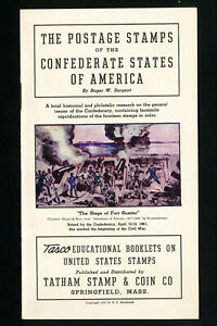 US Confederate Stamps In Folder