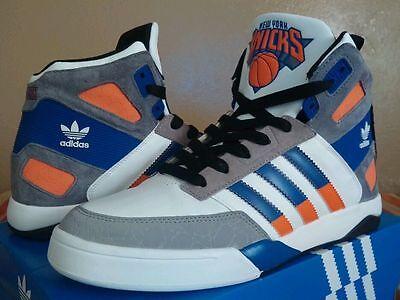 ... Mens ATTITUDE HI Knicks White Orange Blue D73897.  uperlugia95. Adidas  Originals Strongside Basketball Shoes Sneakers NBA NY Knicks D66101 NIB f2faebbd4