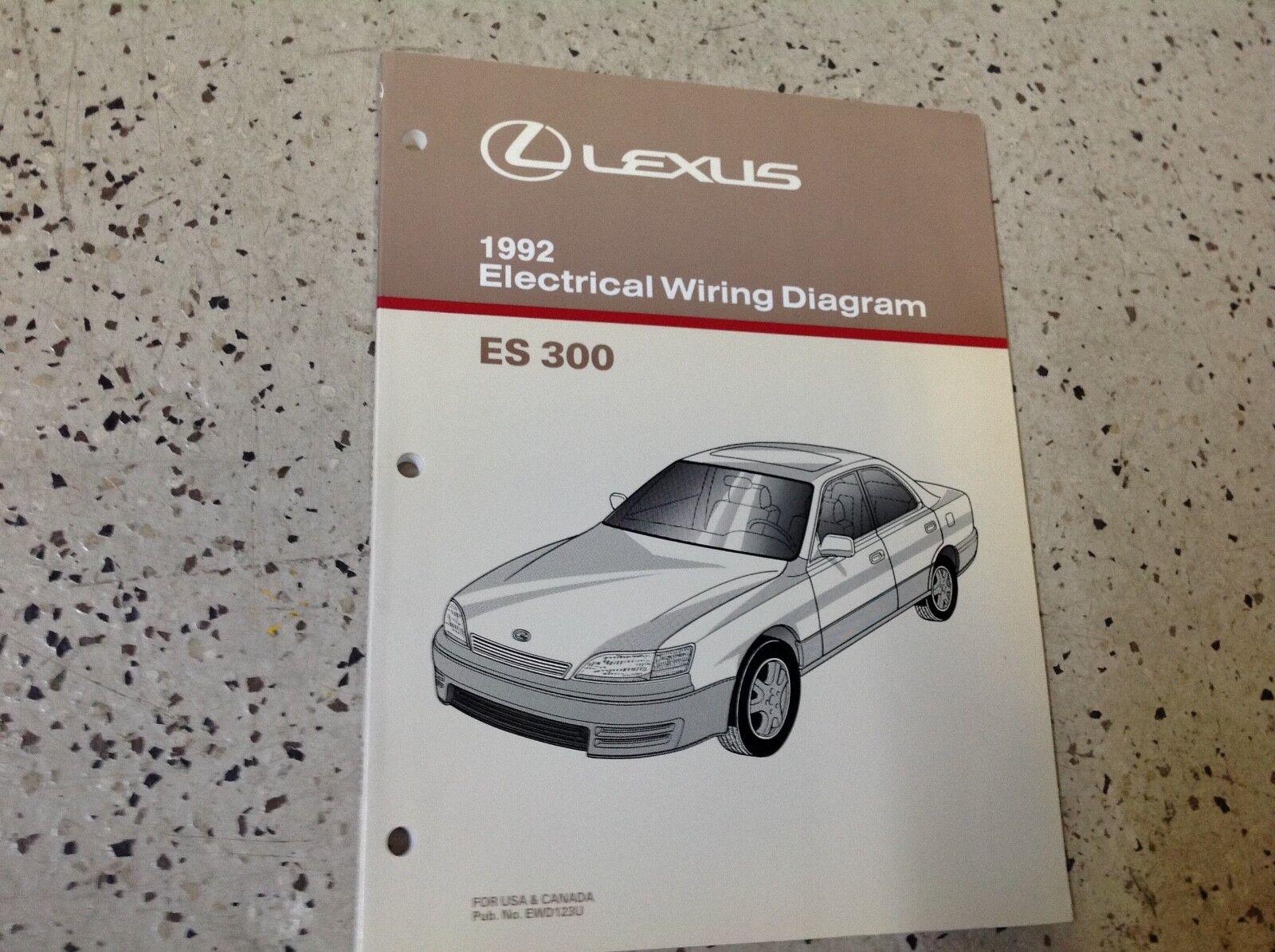 1992 Lexus ES 300 Electrical Wiring Diagram Manual Original Es300 OEM Shop  | eBay