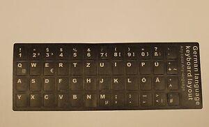 Keyboard-sticker-3M-DE-Tastatur-Aufkleber-Laptop-Notebook-Deutsch-German-Black