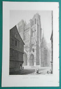 AMIENS-CATHEDRAL-France-1821-Cpt-Batty-Antique-Print