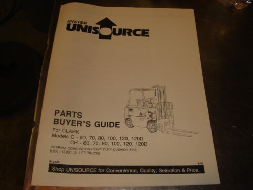 Hyster C CH 60 70 80 100 120 120D Forklift  Parts Guide Manual Book Catalog