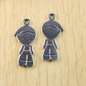 5pcs-Tibetan-silver-cute-portrait-Findings-charm-h1131
