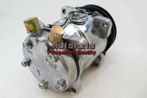 Polish Aluminum Sanden SD508 508 AC Air Compressor V Belt Pulley 2 Groove HotRod