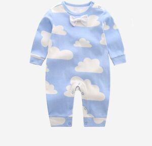 a0bb093d64e9 Infant Baby Boy Girl Kids Cotton Cloud Romper Jumpsuit Bodysuit ...