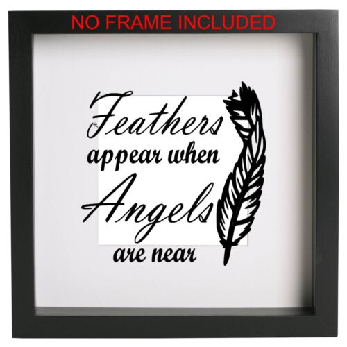 Robins Appear When Angels Are Near vinyl sticker//box frame