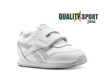 Discreto Reebok Royal Cl Jog Bianco Argento Scarpe Bambina Sportive Sneakers Cn1327 Rimozione Dell'Ostruzione