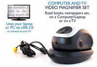 Wireless Electronic Reading Aid With Usb Converter For Computer Or Television