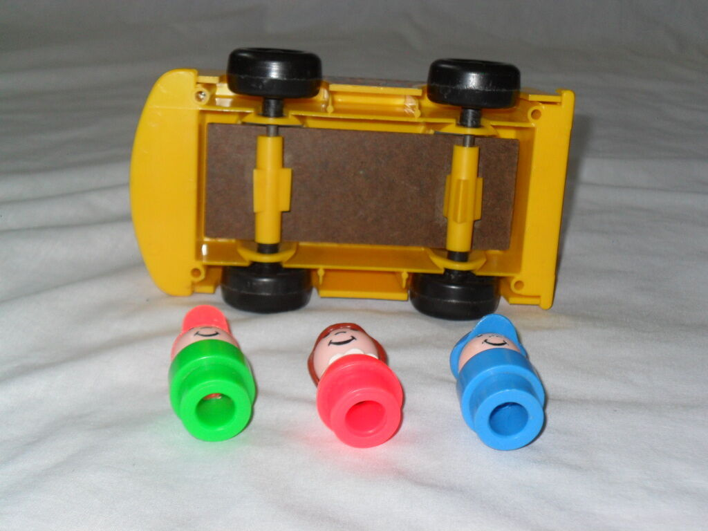 RARE RARE RARE 1988 PAMPERS PROMOTIONAL VINTAGE FISHER PRICE LITTLE PEOPLE MINI BUS 7eb0eb