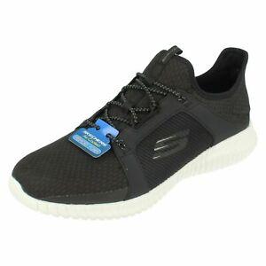 b5d31c57ab6c5 Mens Skechers Elite Flex - 52640 Lace Up Black/ White Trainers   eBay