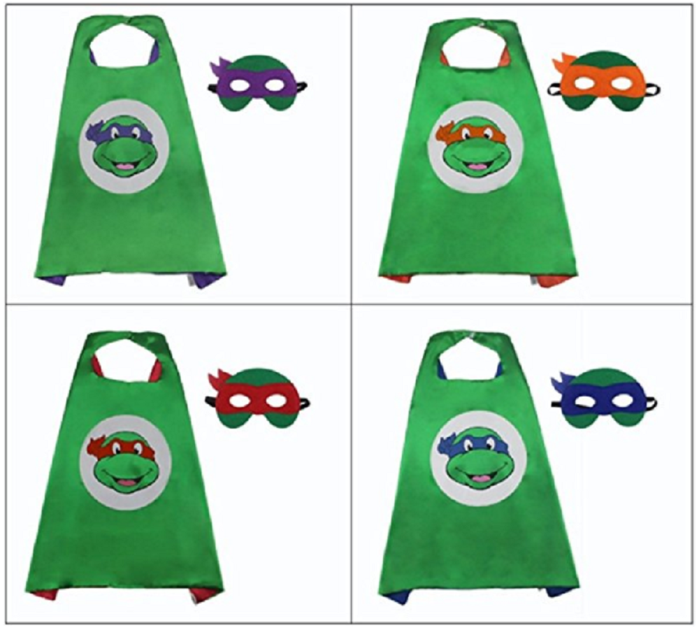 GDreamer Kid Ninja Turtles Mask and Cap for Halloween Costume and Cosplay Party