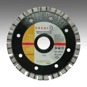 Dronco-125mm-x-22-23mm-Evolution-Turbo-Allround-Naturstein-Beton-Ziegel-Laser