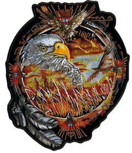 "Dream Eagle Stunning 9"" X 11"" Motorcycle Biker Uniform Patch #P-Xl"