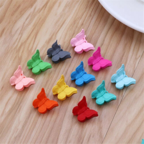 20PCS Mini Hair Claws Multi Colors Hair Clips Butterfly Shape Hair  Clamps Child