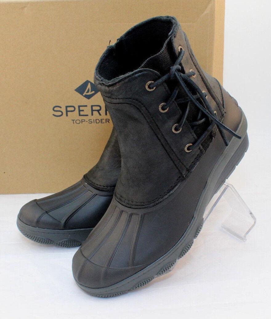 NWB Sperry Dimensione 10 Saltwater Wedge  nero donna 65533;s Side Zip Rain stivali RETAIL  139  garanzia di credito
