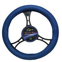 Breathable Blue Mesh Steering Wheel Cover Universal Fit Odorless White Insert