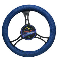 Breathable Blue Mesh Steering Wheel Cover Universal Fit Odorless White Insert