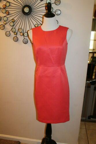 Banana Republic Women/'s Coral Textured Sheath Dress Size 2