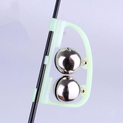 4X glühen sie Fishing Rod Alarmglocke Fisch beißen Warnung Nacht Angeln ZubehXJ