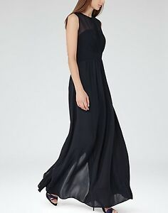 Maxi sexy abito 12 £ Reiss M Uk Abito 00 Clara Night Rrp sofisticato 225 Navy 5XXg1f