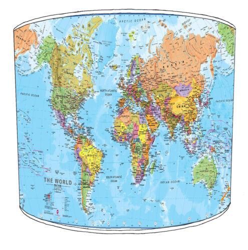 Abat-jour idéal pour correspondre à carte du monde atlas coussins /& cartes wall decals /& autocollant
