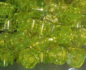 NEW-Lego-Round-2x2-Stud-Trans-Yellow-Bricks-Blocks-Space-Ship-10-pieces