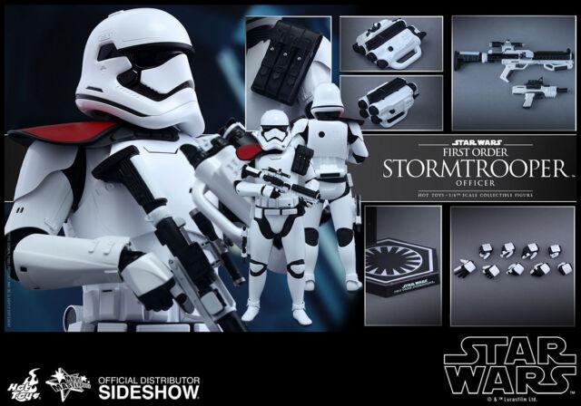 "Hot Toys Star Wars Force Awakens FIRST ORDER STORMTROOPER OFFICER 12"" Figure 1/6"