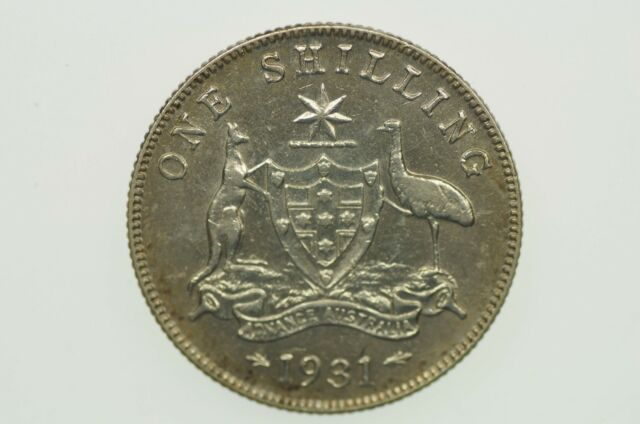 1931 Shilling George V in Almost Extremely Fine Condition