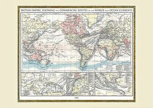 Vintage british empire world map 1896 poster wall art with size image is loading vintage british empire world map 1896 poster wall gumiabroncs Choice Image