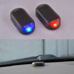 1X-Fake-Solar-Car-Alarm-Led-Light-Security-System-Warning-Theft-Flash-Red-Blue