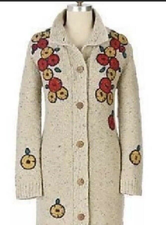 ANTHROPOLOGIE SPARROW SPARROW SPARROW PIGMENT STITCH SWEATERCOAT SIZE Small WOOL BLEND f43ec7
