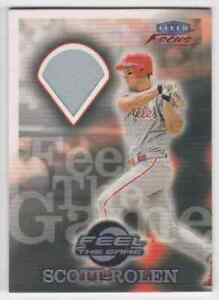 2000-FLEER-FOCUS-FEEL-THE-GAME-SCOTT-ROLEN-JERSEY-PHILADELPHIA-PHILLIES