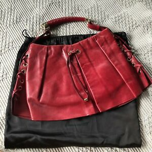 Authentic-YSL-Mombasa-Skirted-Bag-with-Shiny-Gold-Hardware