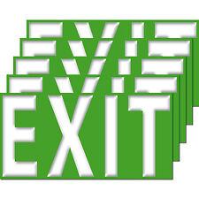 5 Stück Aufkleber EXIT 20cm Sticker Ausgang Notausgang Hinweis Schild