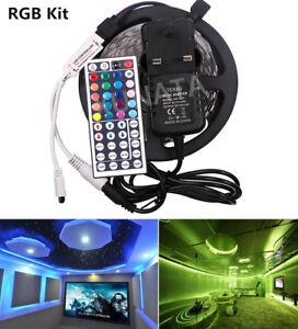 1m-2m-5m-RGB-LED-Strip-Waterproof-60leds-m-DC12V-Rope-Lights-Controller-UK-Plug