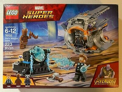 LEGO Marvel Avengers Infinity War 76102 Thor/'s Weapon Quest 223 pc NEW Sealed