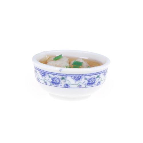 shrimps noodle Bowl Food 1/6 scale  Dollhouse Miniature LL