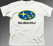 subaru impreza wrx sti badge car white cotton t-shirt tee 01080