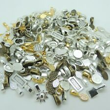 100pcs Mix Spoon Glue on Bail Earring Bails For Glass Tile DIY Charms Pendant