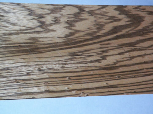 Zebrawood Raw Wood Veneer Sheets  5.25 x 45 inches 1//42nd  thick         4742-11
